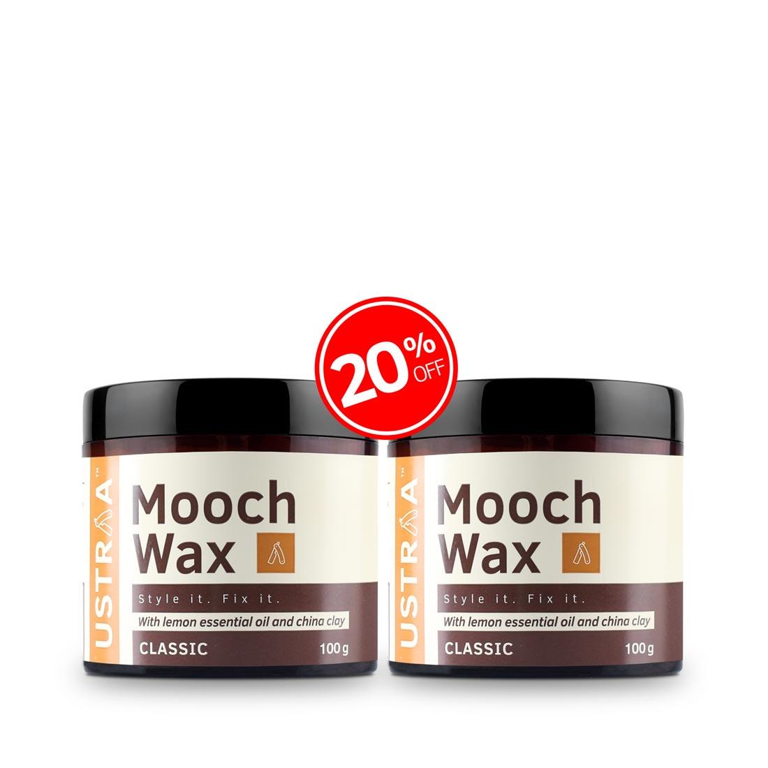 Beard & Mooch Styling Wax - 100g- Set of 2