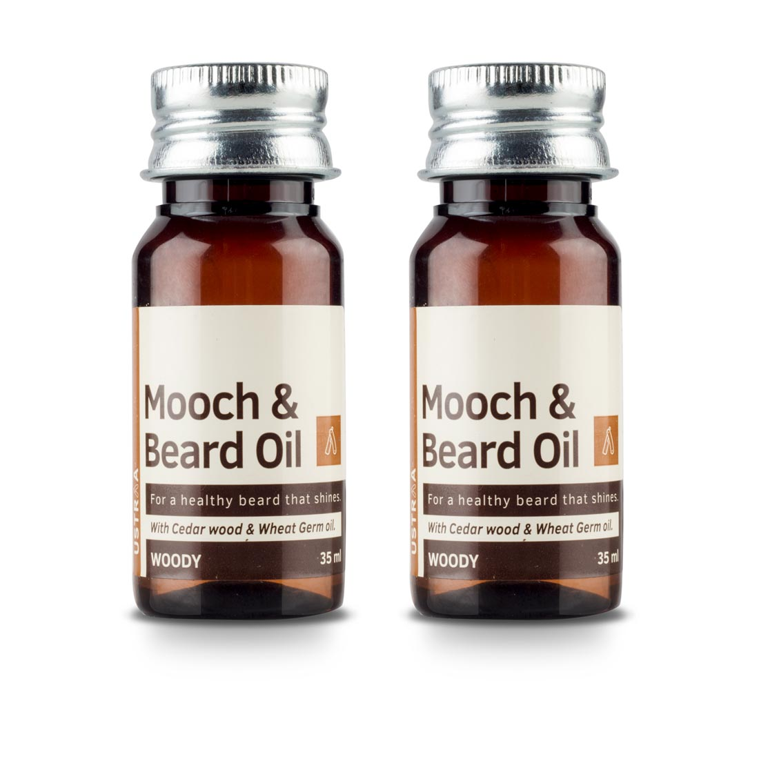 Beard & Mooch Oil (Woody) - Set of 2