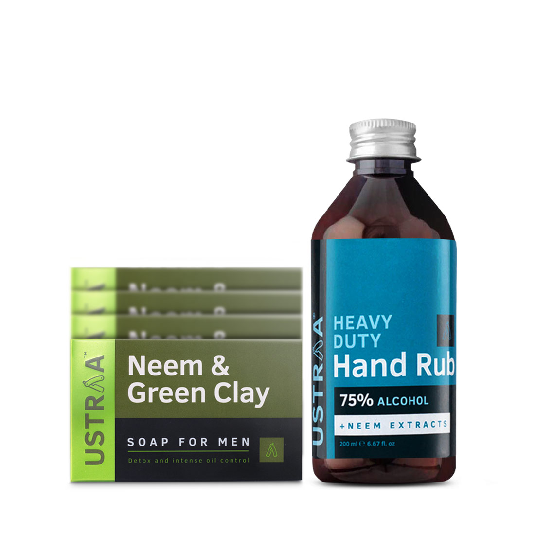 Deo Soap - Neem - Pack of 4 & Hand Rub - 200 ml