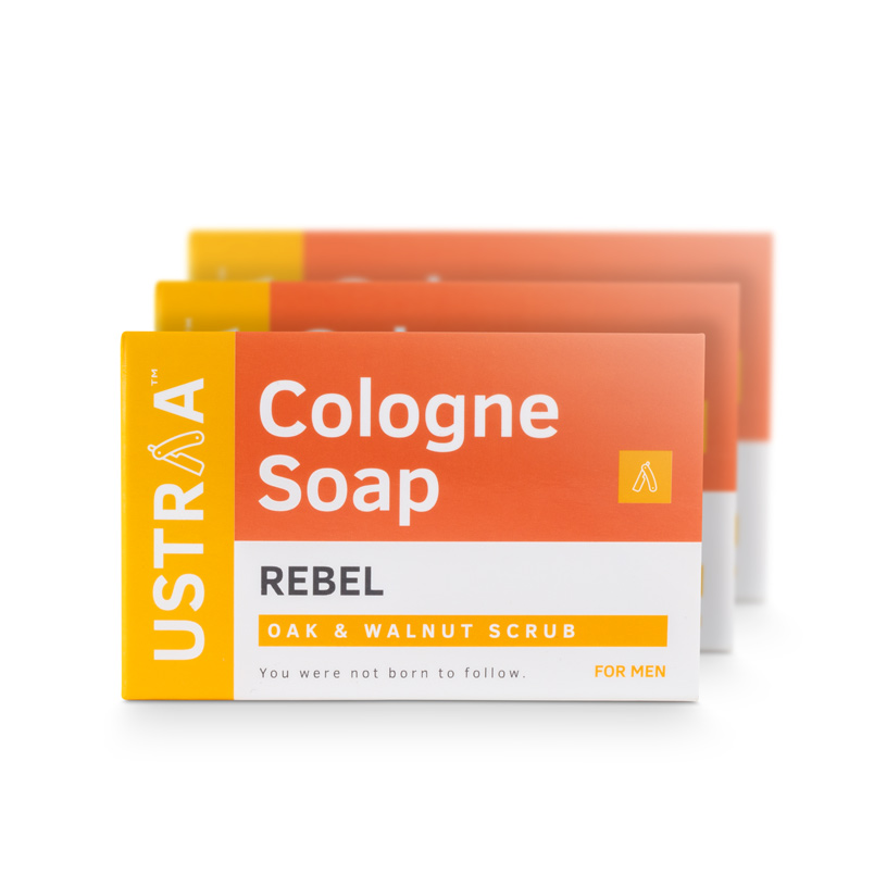 Rebel Cologne Soap - Pack of 3