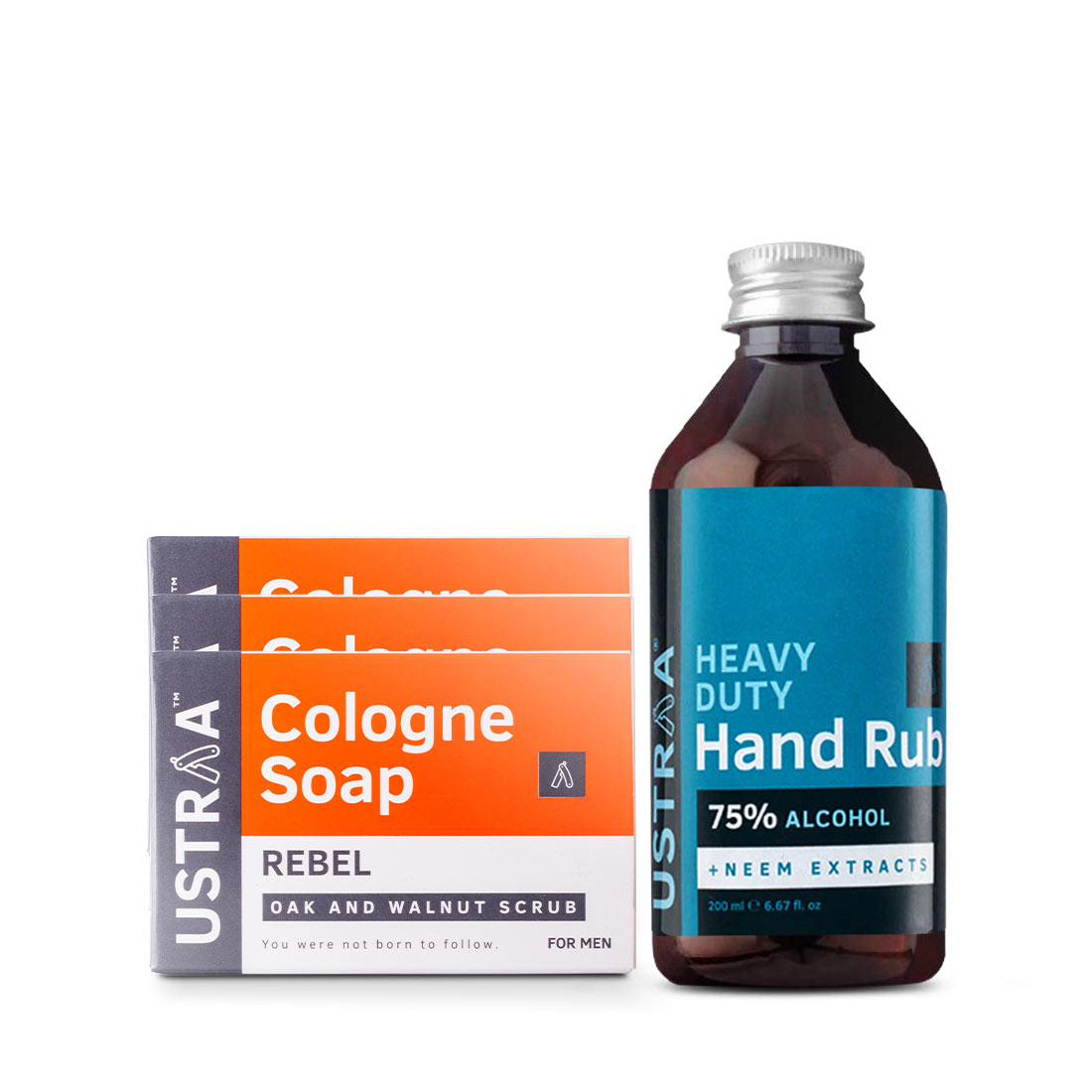 Cologne Soap - Rebel - Set of 3 and Hand Rub - 200 ml