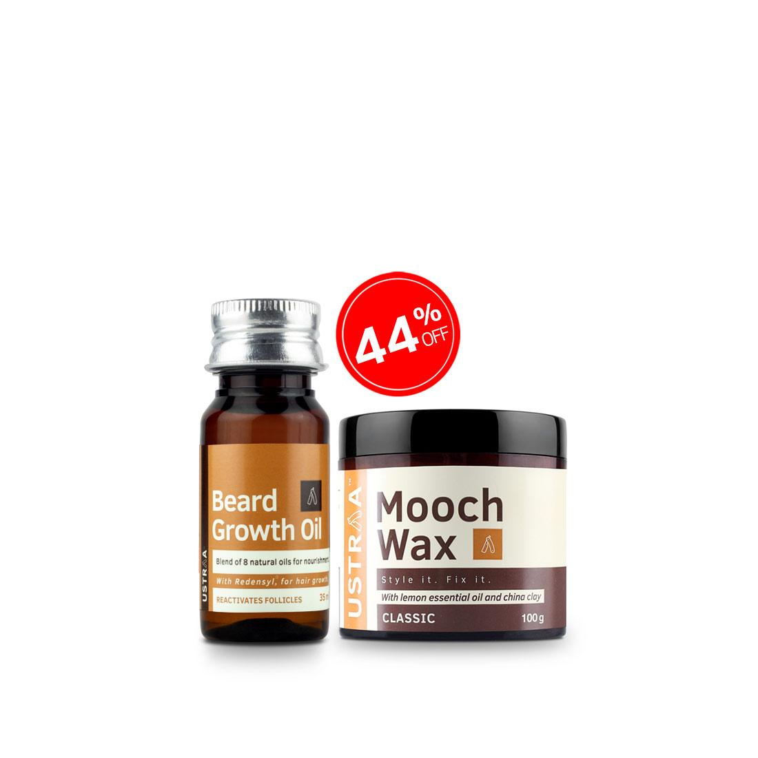 Beard Growth Oil and Beard & Mooch Styling Wax