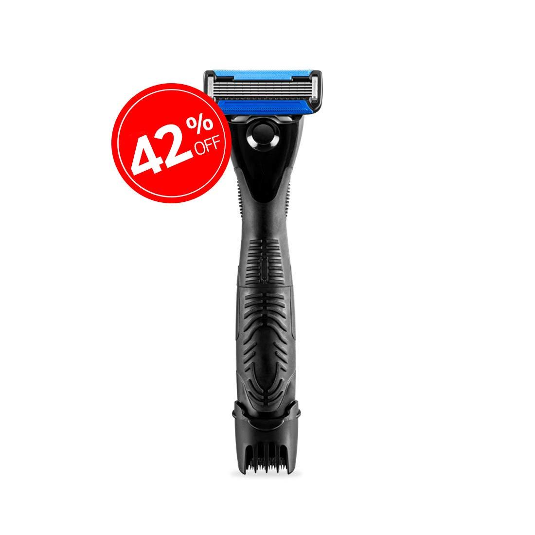 Ustraa Gear 2-in-1 Beard Styler - 5 Blade Razor & Trimmer