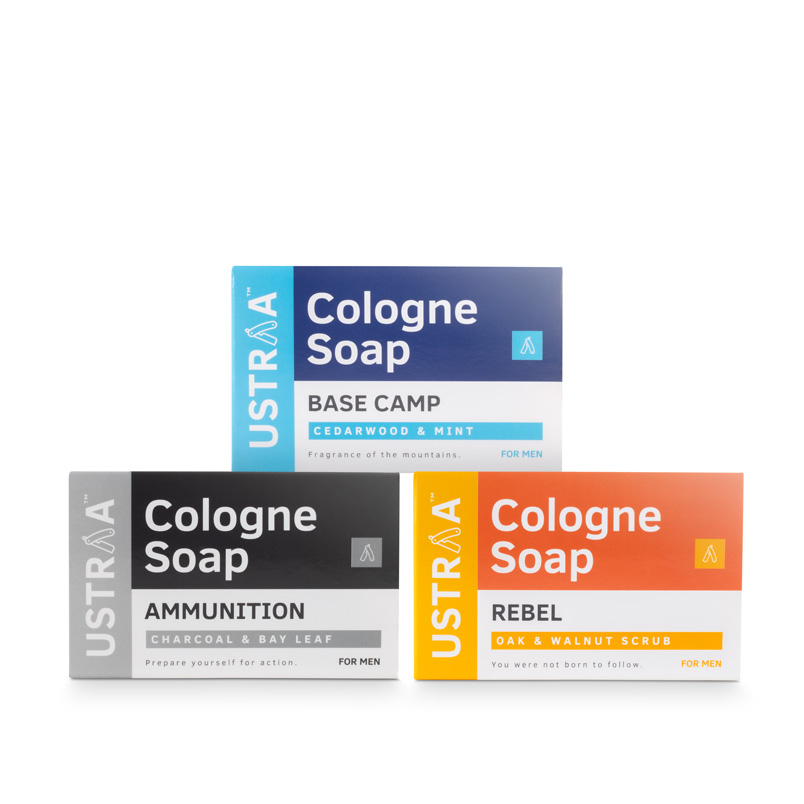 Cologne Soap - Pack of 3