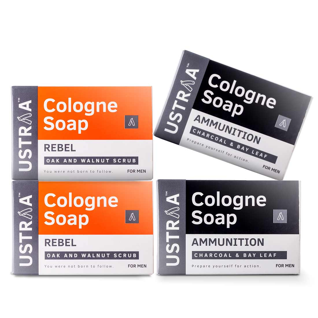 Cologne Soap - Pack of 4