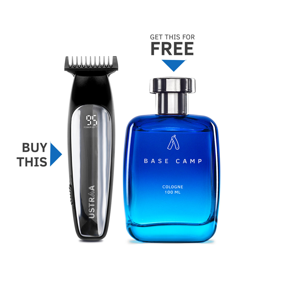 Ustraa Chrome - Lithium Powered Beard Trimmer (Get Ustraa Cologne Free)