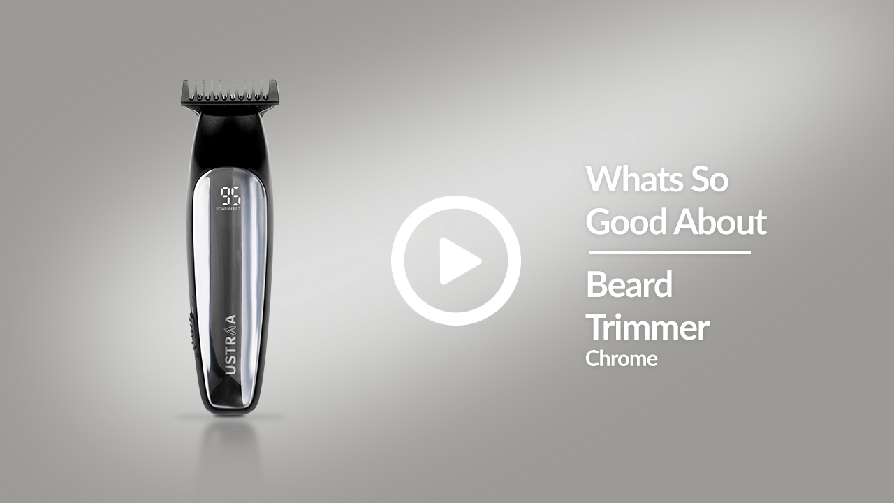 Introducing USTRAA Chrome - Lithium Powered Beard Trimmers | Designed For Beards