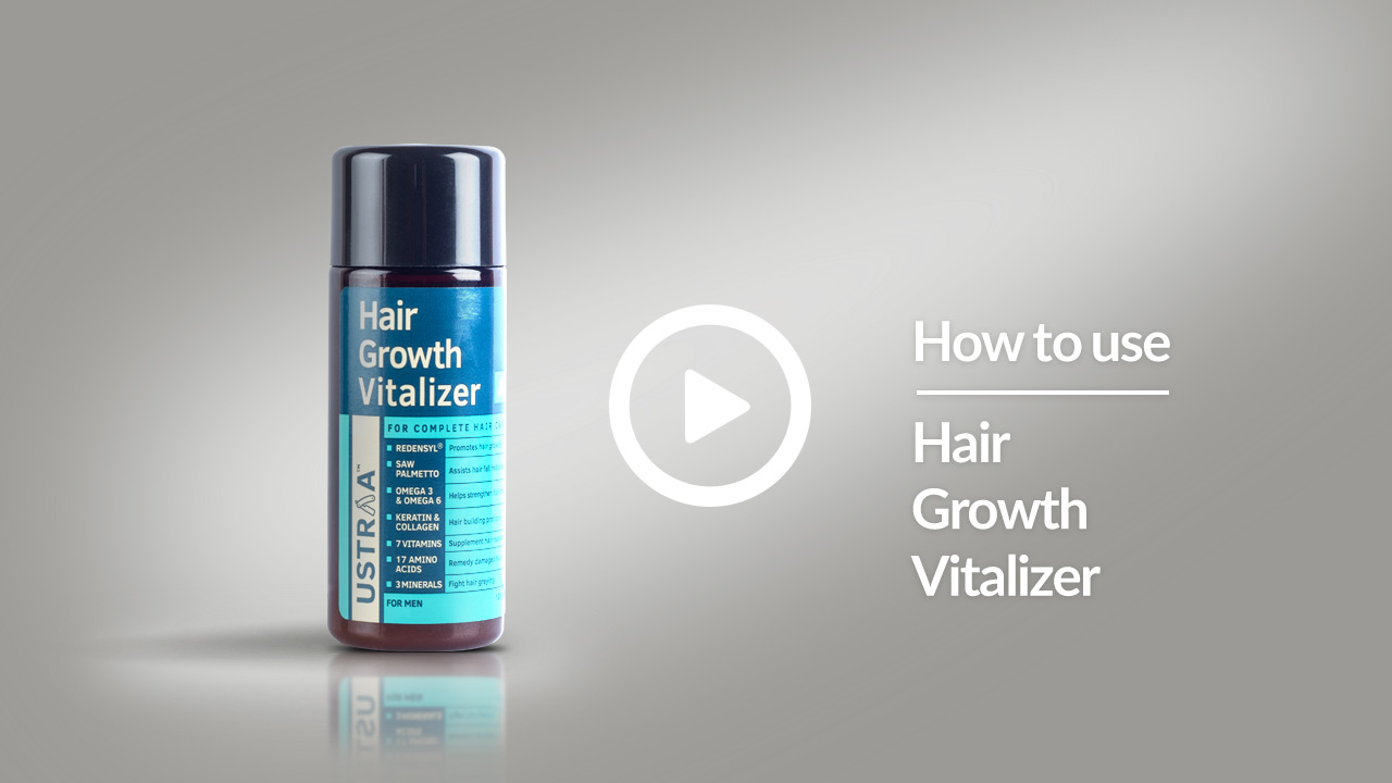 How To Use Hair Growth Vitalizer | Boosts Hair Growth, Reduces Hair Fall, Delays Greying | USTRAA