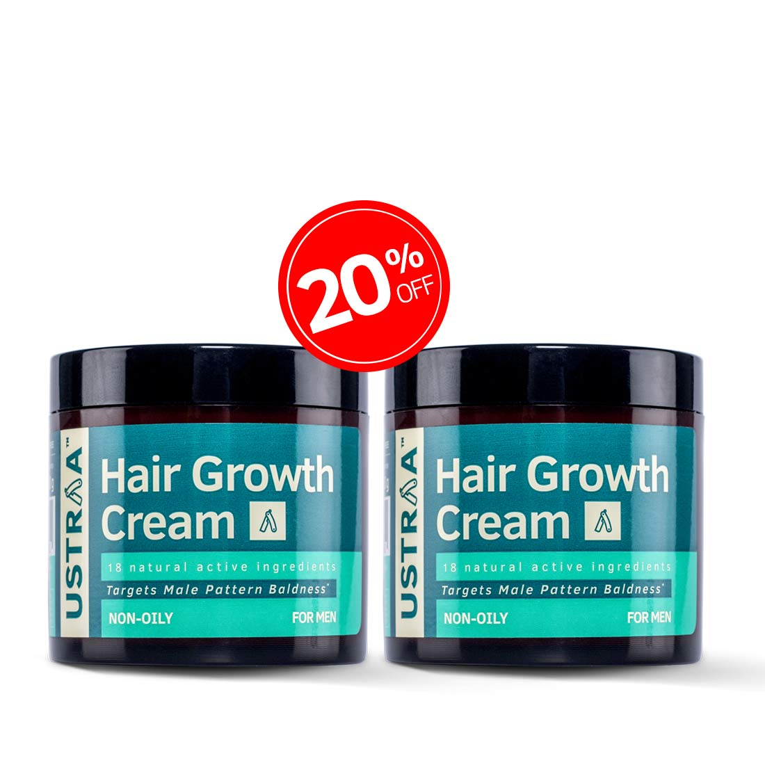 Hair growth cream - Set of 2