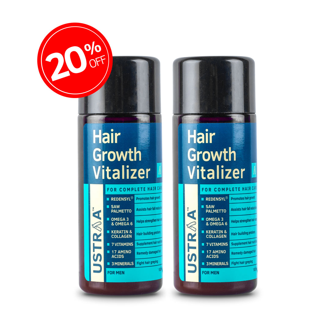 Hair Growth Vitalizer -  Set of 2