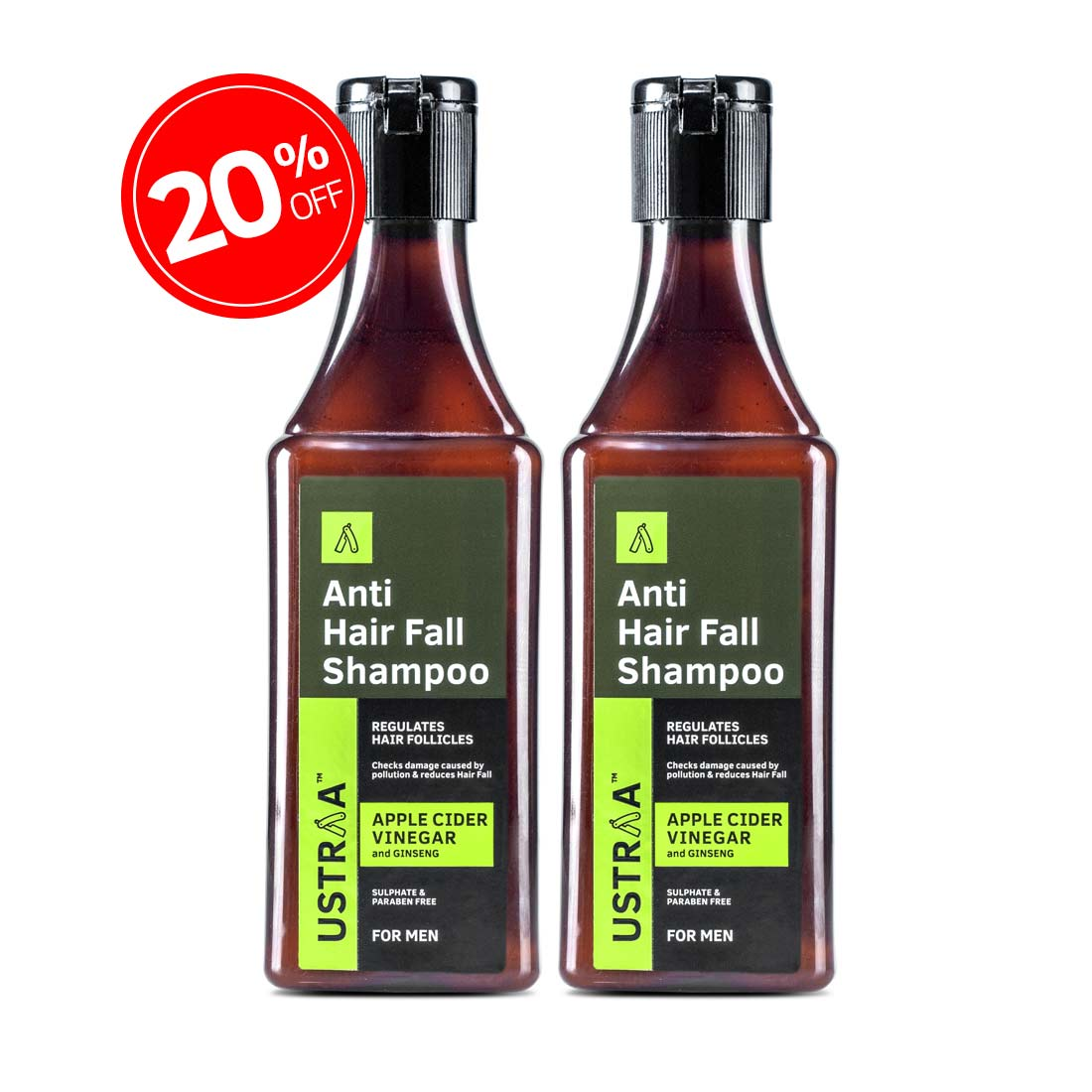 Anti Hair Fall Shampoo with Apple Cider Vinegar - Set of 2